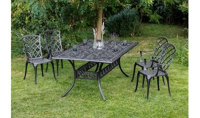 MERXX Diningset »Rhodos«, 5 - tlg., 4 Sessel, 1 Tisch 180x105 cm, Aluminium kaufen