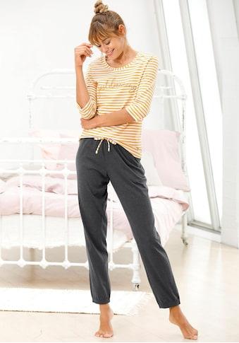 Vivance Dreams Pyjama, im Streifenmuster mit 3/4-Ärmeln kaufen