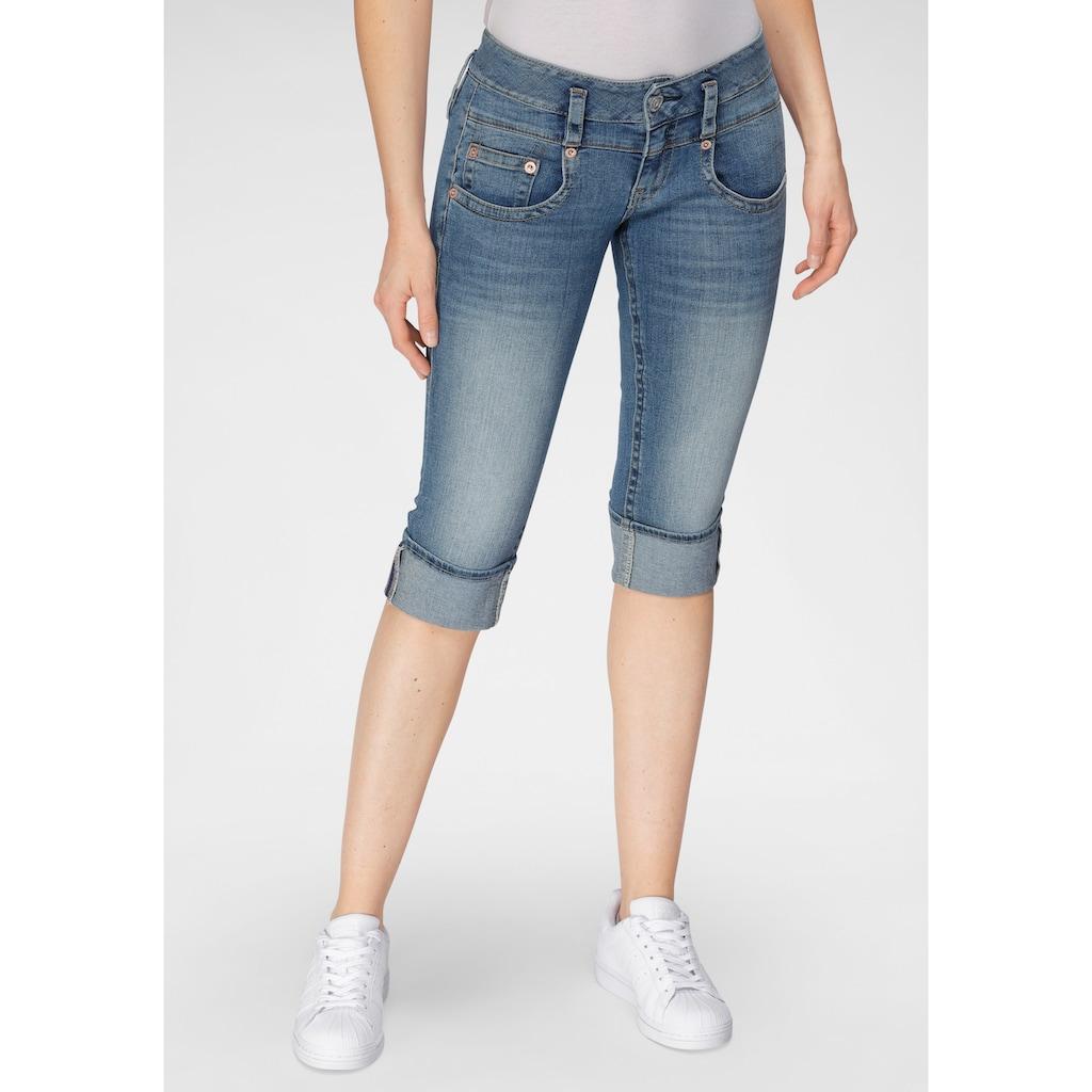 Herrlicher Jeansshorts »PITCH SHORT«, mit Umschlagsaum