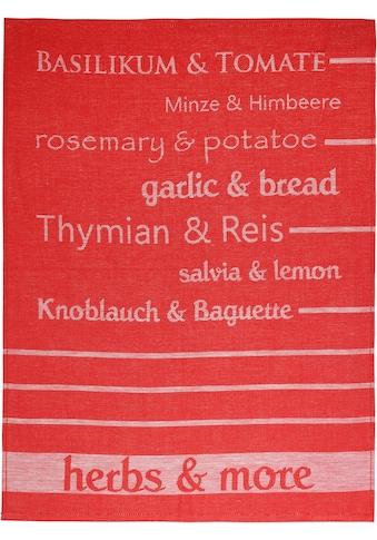 "stuco Geschirrtuch ""Herbs&More  -  Jacquard"" (Set, 3 - tlg.) kaufen"