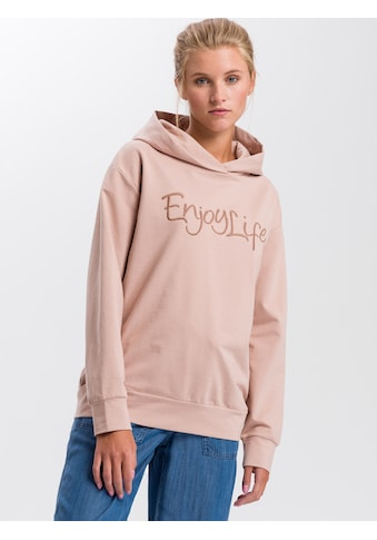Cross Jeans® Hoodie »65238«, Hoodie mit plakativem Labelprint kaufen