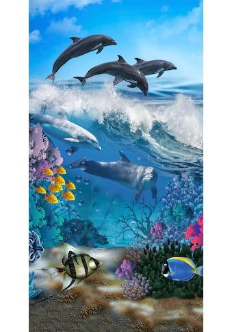 good morning Strandtuch »Andre«, (1 St.), mit Delfinen kaufen