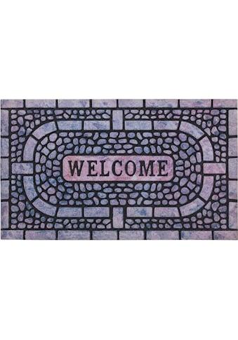 Andiamo Fußmatte »La Traviata«, rechteckig, 7 mm Höhe, Fussabstreifer, Fussabtreter, Schmutzfangläufer, Schmutzfangmatte, Schmutzfangteppich, Schmutzmatte, Türmatte, Türvorleger, Gummimatte, mit Spruch, In- und Outdoor geeignet kaufen