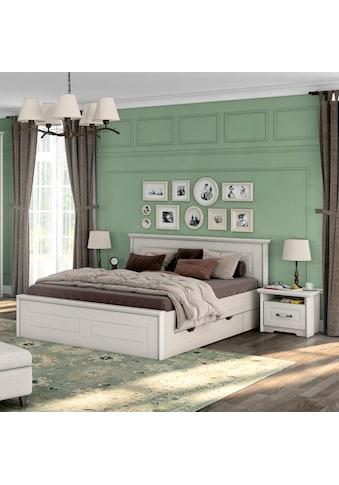 Home affaire Bettgestell »Evergreen«, Holzbett im Landhaus Stil kaufen