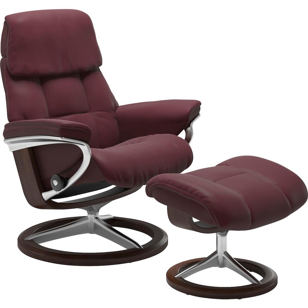 Stressless® Relaxsessel »Ruby«, mit Signature Base, Größe M, Gestell Eiche, Wenge, Braun & Schwarz
