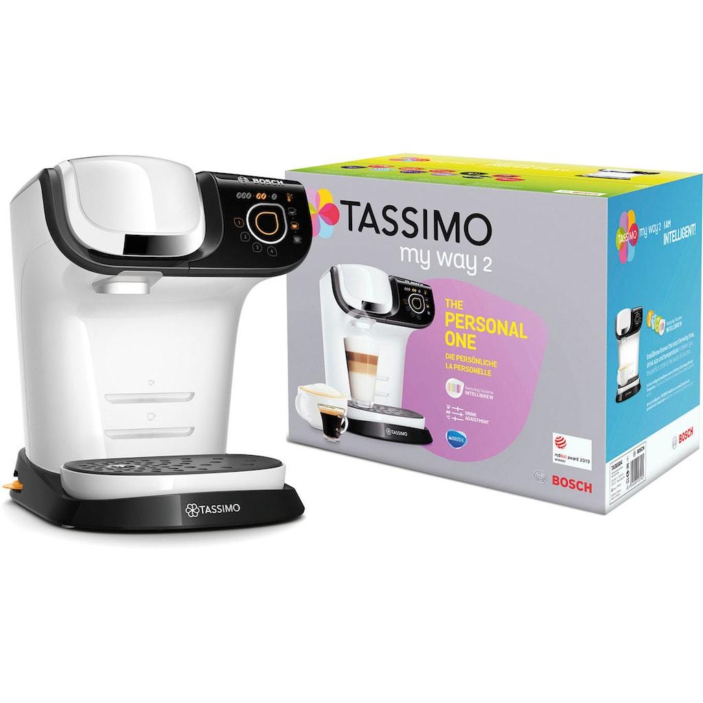 TASSIMO Kapselmaschine »MY WAY 2 TAS6504«, Kaffeemaschine by Bosch, weiß, mit Wasserfilter, über 70 Getränke, Personalisierung, vollautomatisch, einfache Zubereitung