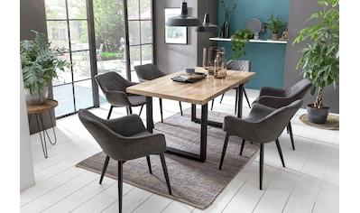 Home affaire Esstisch »Mumbai«, mit rustikale Tischplatte aus Mangoholz kaufen