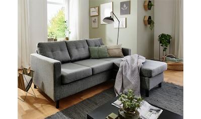 ATLANTIC home collection 3-Sitzer, Ecksofa, frei im Raum stellbar und Recamiere... kaufen