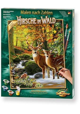 Schipper Malen nach Zahlen »Meisterklasse Premium - Hirsche im Wald«, Made in Germany kaufen