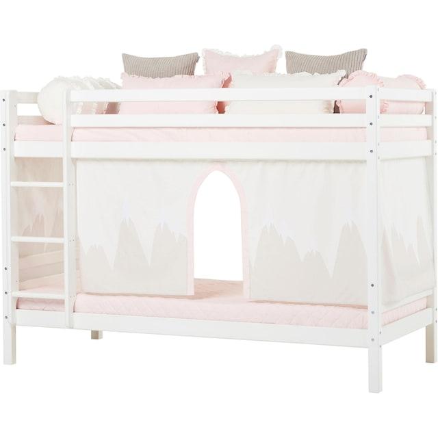 Hoppekids Etagenbett »Winter Wonderland« (Set, 4 Teile, Bett, Vorhang und zwei Matratzen)