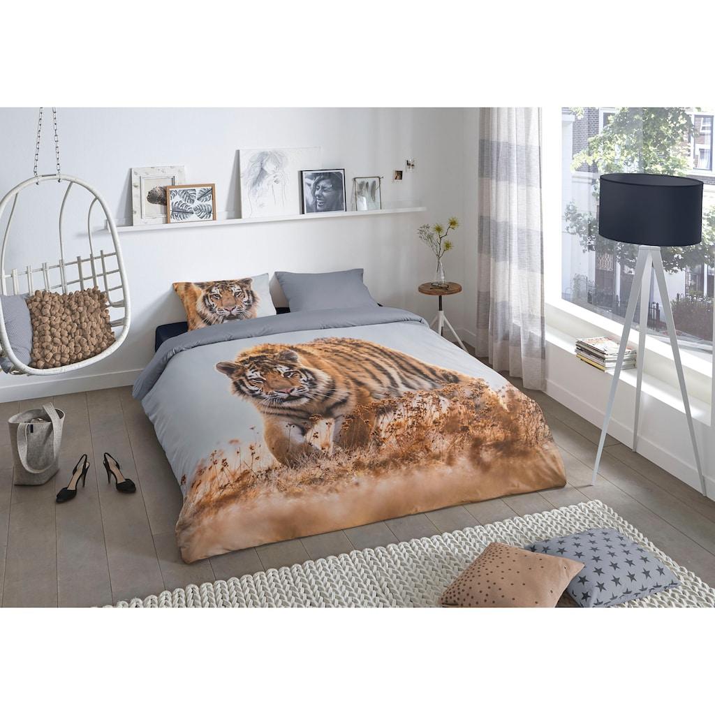 good morning Wendebettwäsche »Tiger«, mit Tierprint
