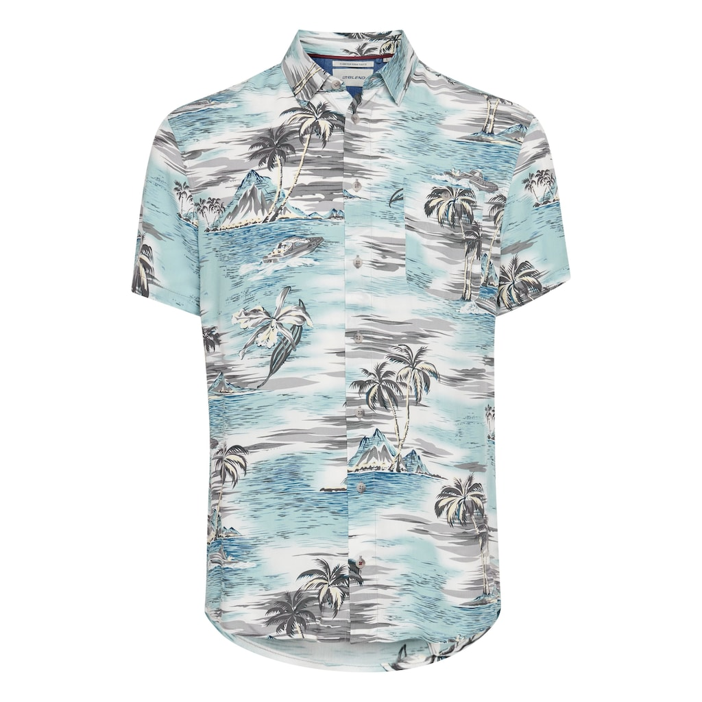 Blend Kurzarmhemd »Blend Herren Hemd Kurzarm mit Print«, Kurzarm Hemd mit Print