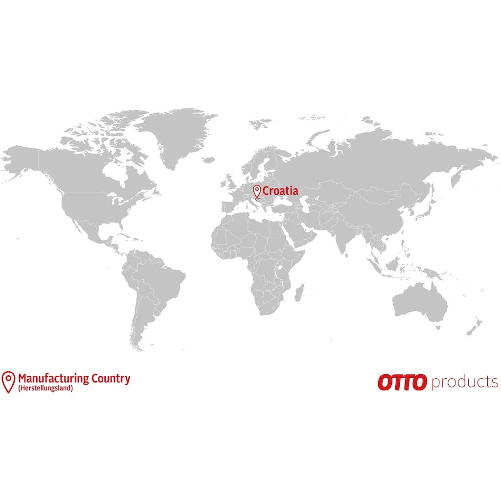 OTTO products Esstisch »Lennard«, aus massiver geölter Wildeiche, mit veganem und zertifizierten Bio-Öl behandelt, runde Tischplatte mit sternförmigem Metallgestell