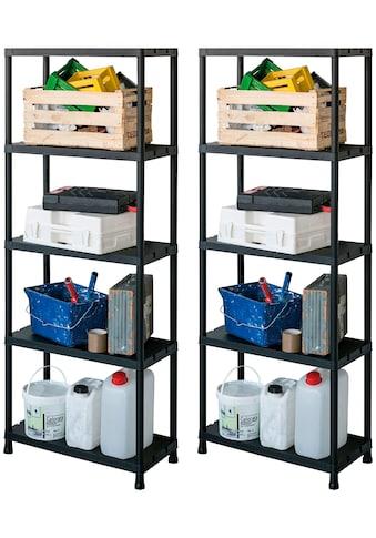 ONDIS24 Steckregal 2er Set, 5 Böden, Kunststoff kaufen
