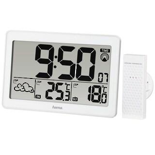 Hama Funk Wetterstation mit Außensensor mit Funkuhr Wecker Thermometer Barometer