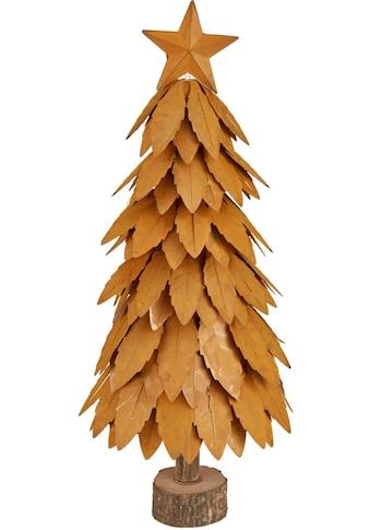 Dekobaum »Christbaum«, Dekoobjekt aus Metall und Holz, Höhe ca. 43 cm kaufen