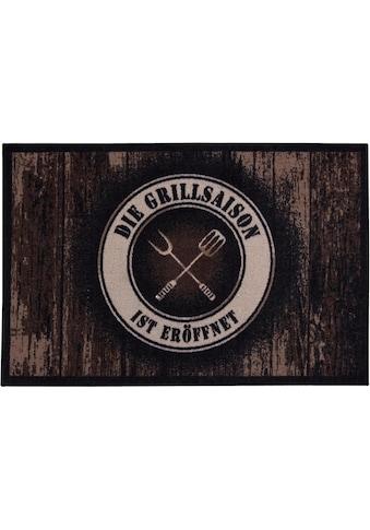 Andiamo Fußmatte »BBQ Grillsaison«, rechteckig, 3 mm Höhe, Fussabstreifer, Fussabtreter, Schmutzfangläufer, Schmutzfangmatte, Schmutzfangteppich, Schmutzmatte, Türmatte, Türvorleger, Grillmatte bzw. Grillunterlage ideal als Bodenschutz, In- und Outdoor geeignet kaufen