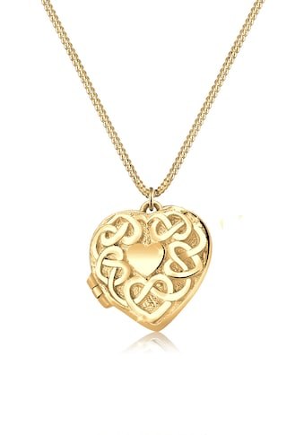 Elli Kette mit Anhänger »Herz Medaillon Ornament 925 Silber« kaufen