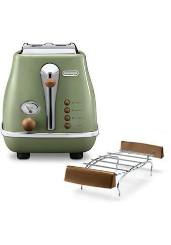 De'Longhi Toaster »Incona Vintage »CTOV 2103.BG««, 2 kurze Schlitze, 900 W, im Retro... kaufen