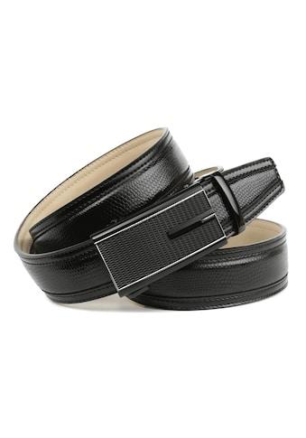 Anthoni Crown Ledergürtel, Handgenähter Gürtel mit stilvoller Automatik-Schließe in... kaufen