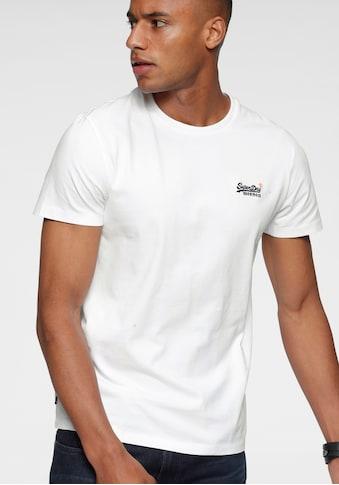 Superdry Rundhalsshirt »OL VINTAGE EMB TEE NS«, mit Stickerei kaufen