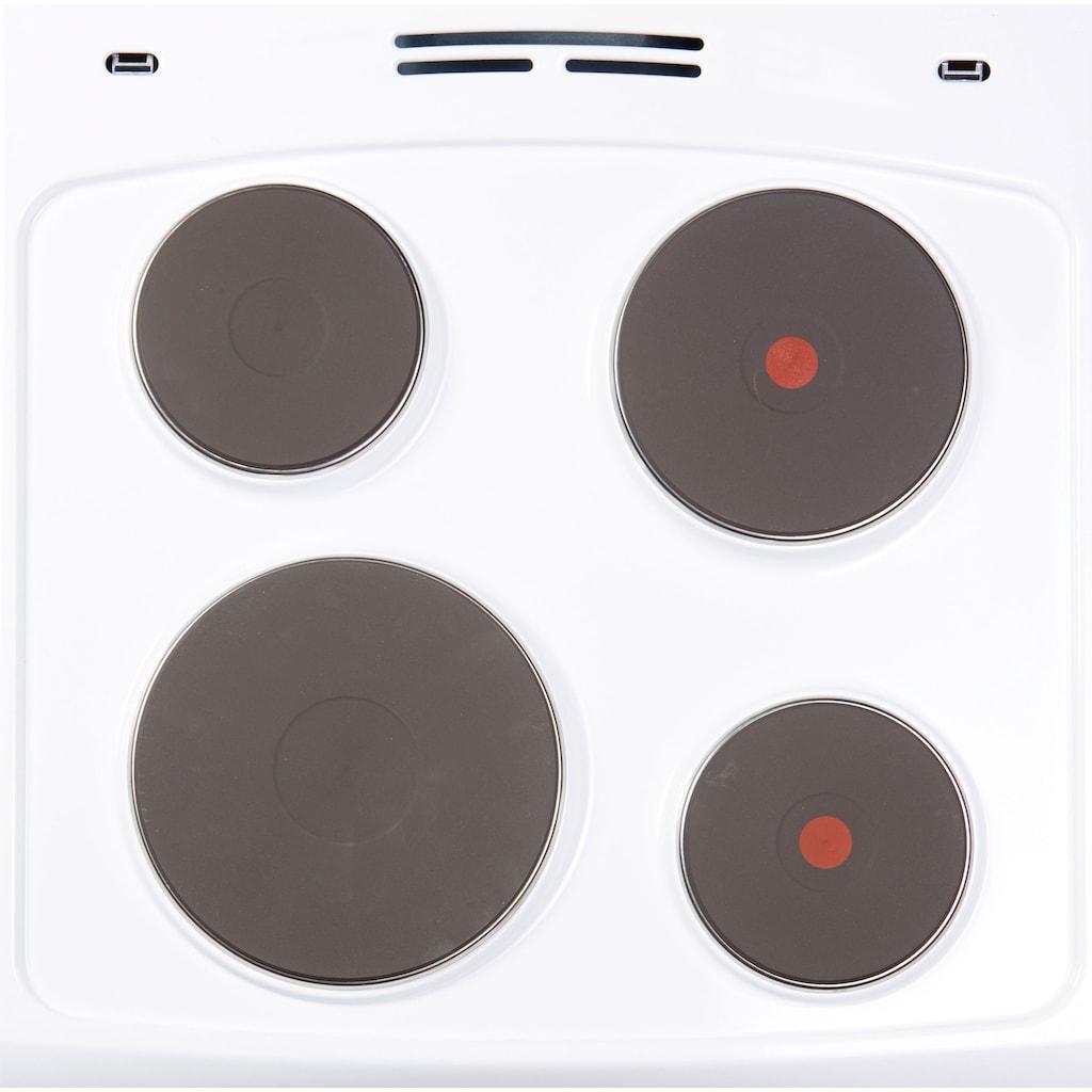 Hanseatic Platten-Standherd »91776154«, 91776154, Simple Steam Reinigungsfunktion
