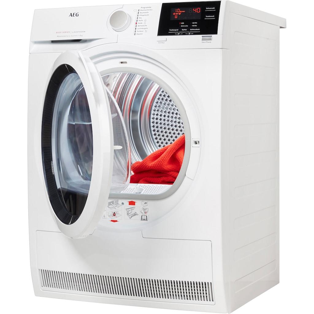 AEG Wärmepumpentrockner »T8DB67580«, 8 kg