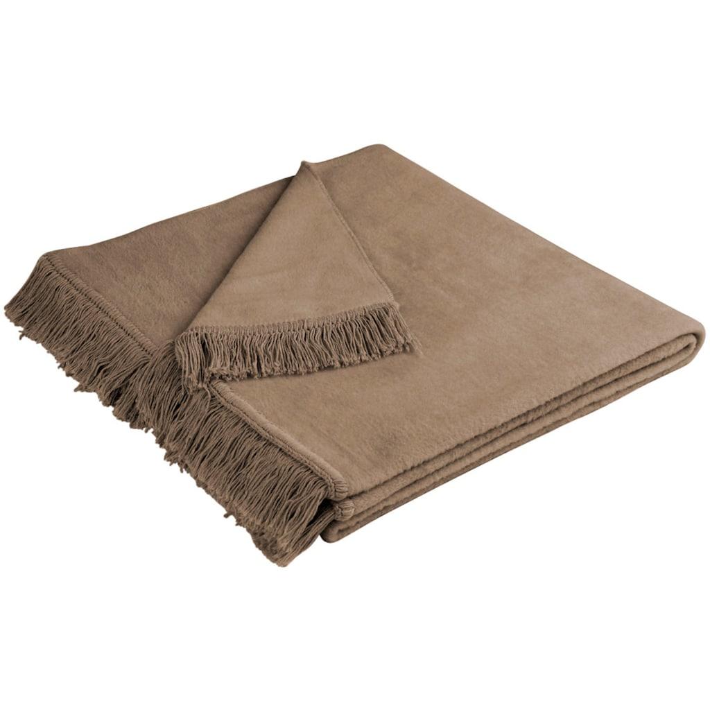 BIEDERLACK Sofaschoner »Cotton Cover«, mit Fransen versehen
