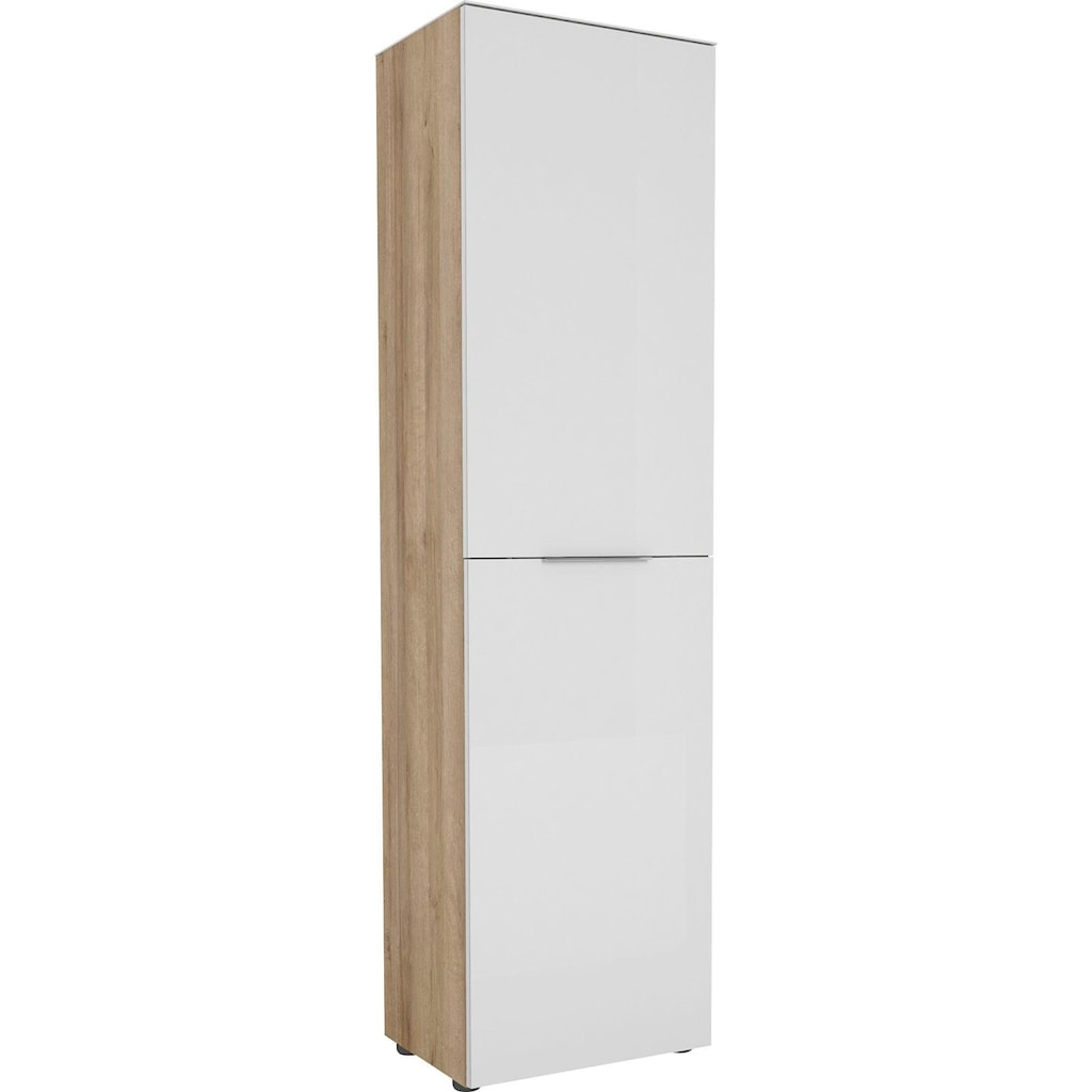Maja Möbel Garderobenschrank »TREND Garderobenschrank 2566«, Oberplatte Glas, ausziehbare Kleiderstange