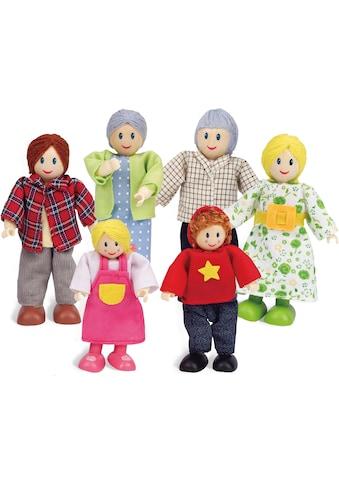 Hape Stoffpuppe »Puppenfamilie Helle Hautfarbe«, (Set, 6 tlg.) kaufen