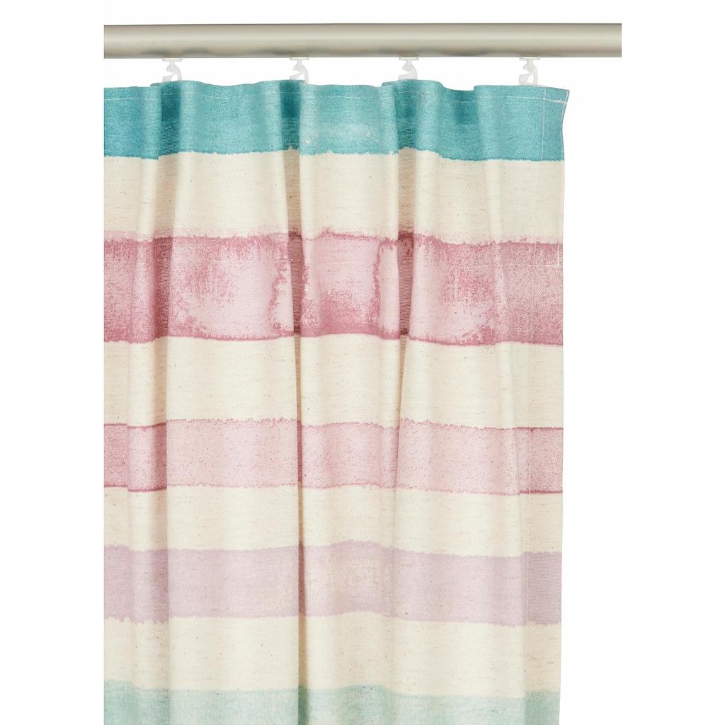Guido Maria Kretschmer Home&Living Vorhang »Garden Stripes«, blickdicht, nachhaltig, Leinen Optik, einseitig bedruckt