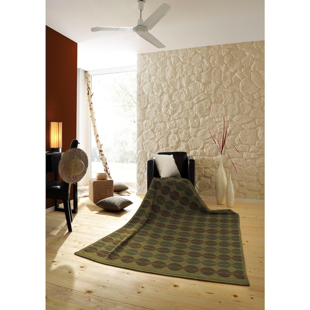 BIEDERLACK Wohndecke »Senegal«, mit trendigen Kreisen