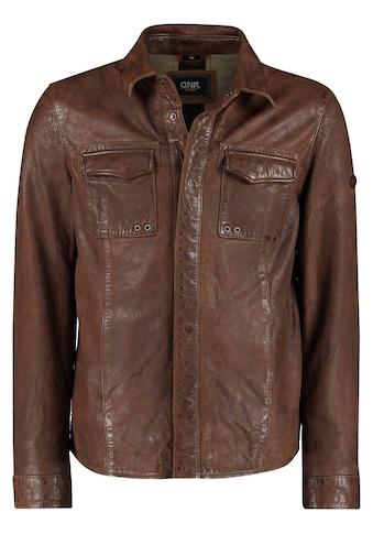 DNR Jackets Lederjacke, Lederjacke mit Brusttaschen und Umlegekragen kaufen