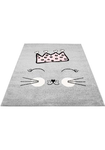 Carpet City Kinderteppich »Bubble Kids 1331«, rechteckig, 11 mm Höhe, Katzen Design,... kaufen