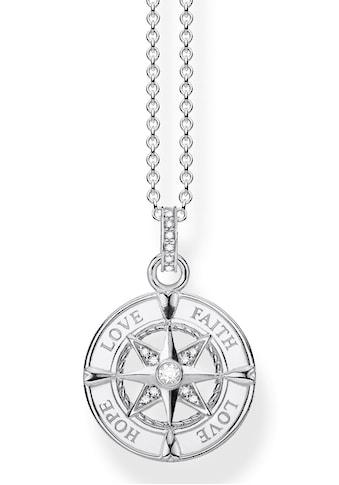 THOMAS SABO Kette mit Anhänger »Kompass, Glaube, Liebe, Hoffnung, KE1849-051-14-L45v«,... kaufen