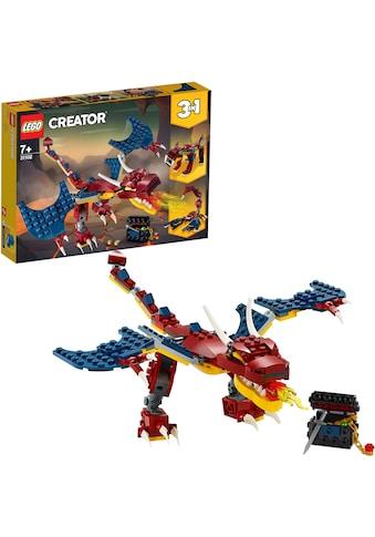 LEGO® Konstruktionsspielsteine »Feuerdrache (31102), LEGO® Creator«, (234 St.), Made... kaufen