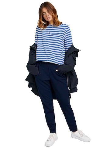 TOM TAILOR Denim Sweatshirt, gestreift mit Knopfleiste an der Schulter kaufen