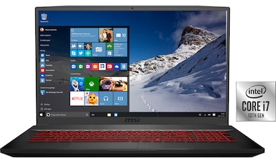 MSI GF75 10SCXR - 019 Thin Gaming - Notebook (43,9 cm / 17,3 Zoll, Intel,Core i7, 1000 GB HDD, 256 GB SSD) kaufen