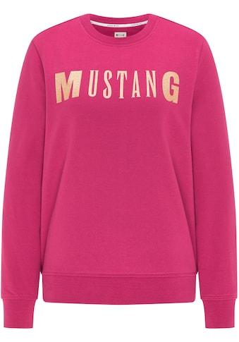 MUSTANG Sweatshirt »Bea C Logo Print« kaufen
