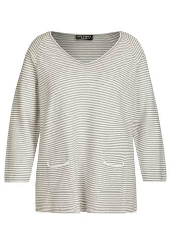 VIA APPIA DUE V-Ausschnitt-Pullover, mit gestreiftem Muster kaufen