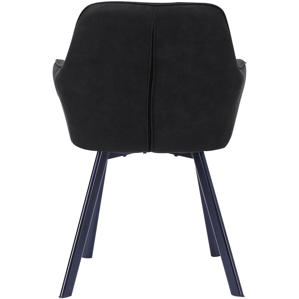 SalesFever Armlehnstuhl, Rückenlehne mit Rautensteppung
