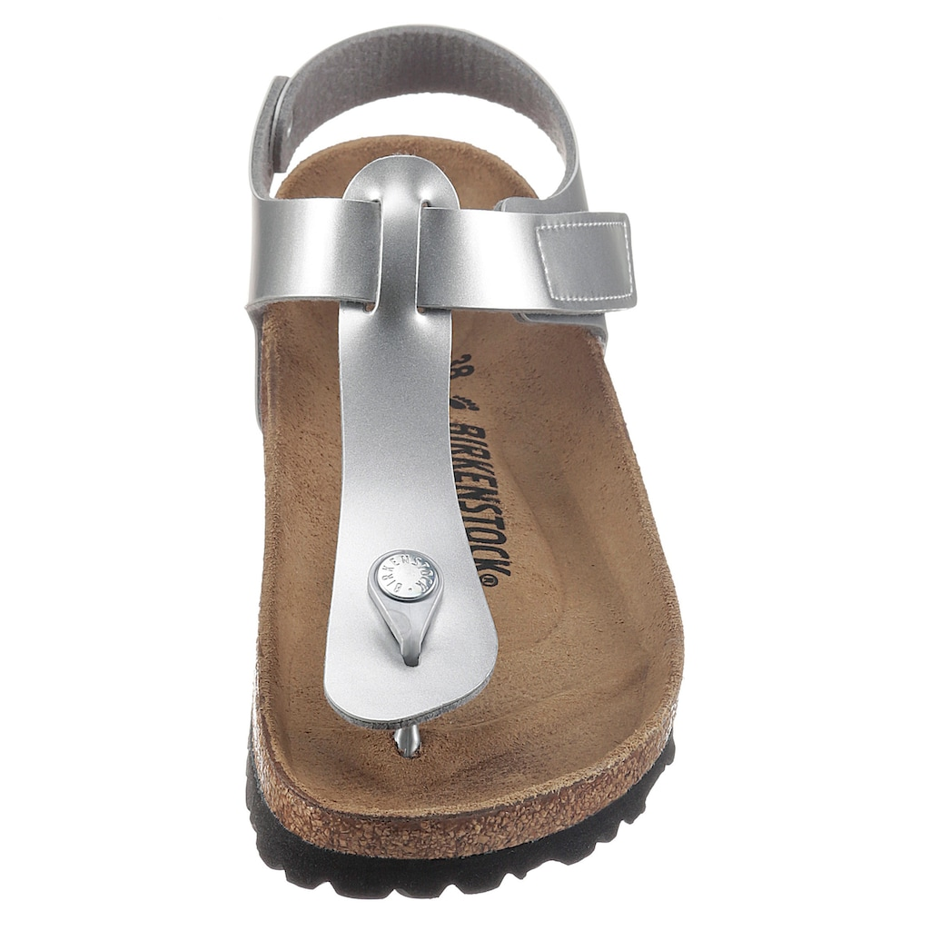 Birkenstock Zehentrenner »Kairo Kids«, in Metallic-Optik, schmale Schuhweite