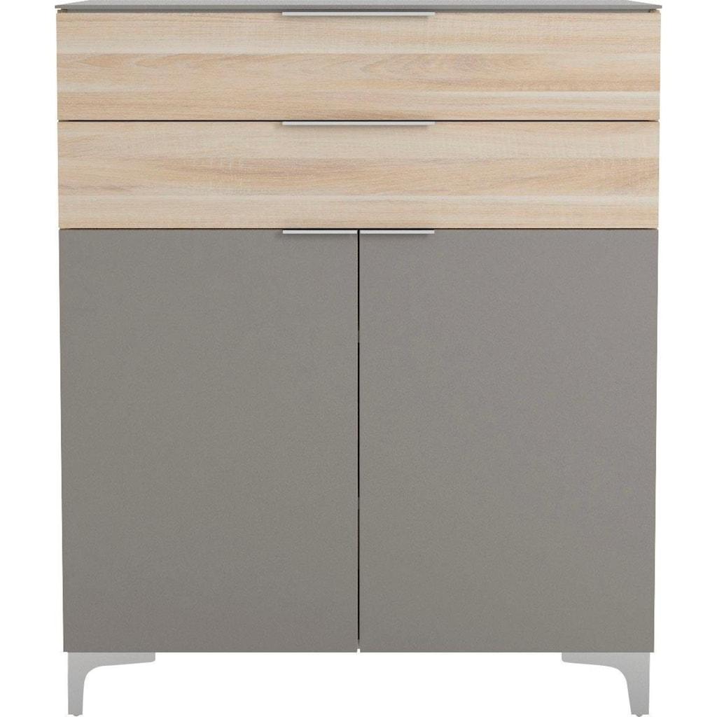 Maja Möbel Schuhschrank »SHINO Garderobe«, Oberplatte in ESG-Sicherheitsglas, Schubladen mit Filzeinlagen