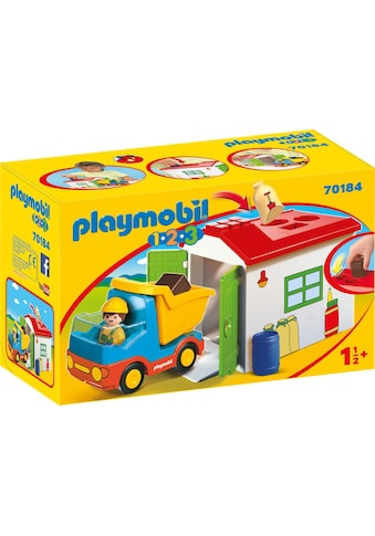 Playmobil® Konstruktions-Spielset »LKW mit Sortiergarage (70184), Playmobil 1-2-3«,... kaufen