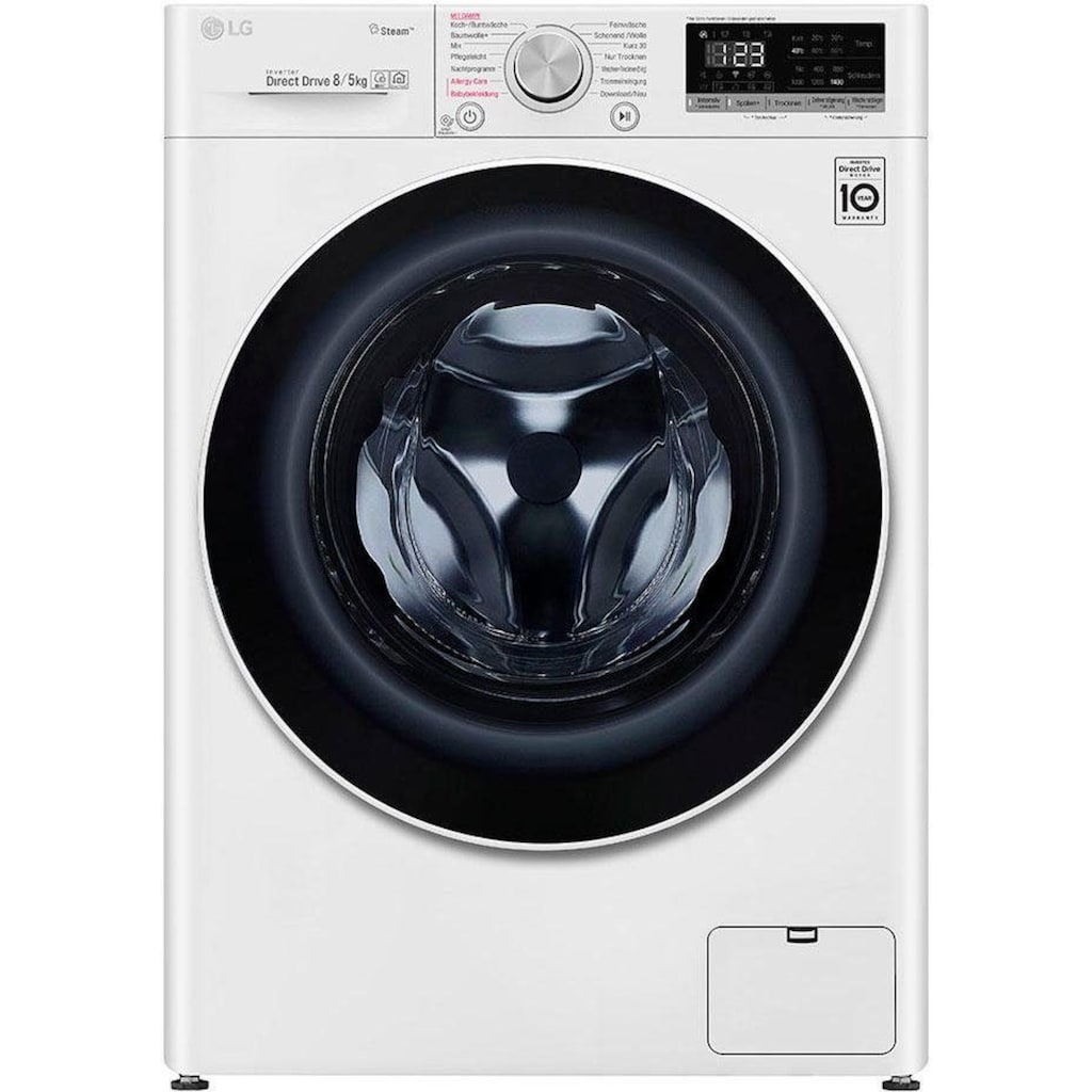 LG Waschtrockner »V4 WD 85S1«, 4, 52 dB, mit Dampftechnologie