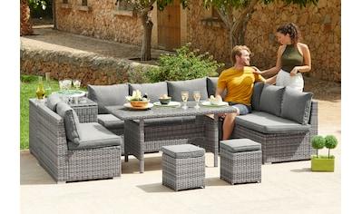KONIFERA Loungeset »Kalamos«, 23 tlg., 3er - Sofa, 2x 2er Sofa, Ecksofa, 2 Hocker, 2 Tische kaufen