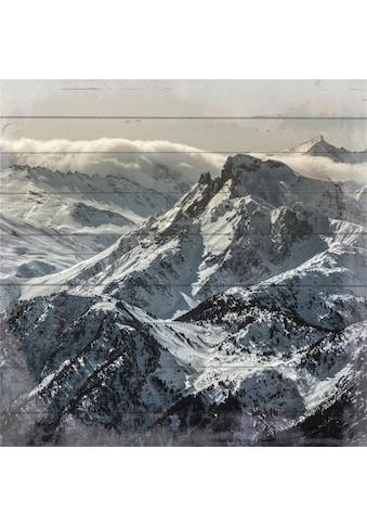 Home affaire Holzbild »Berglandschaft«, 40/40 cm kaufen
