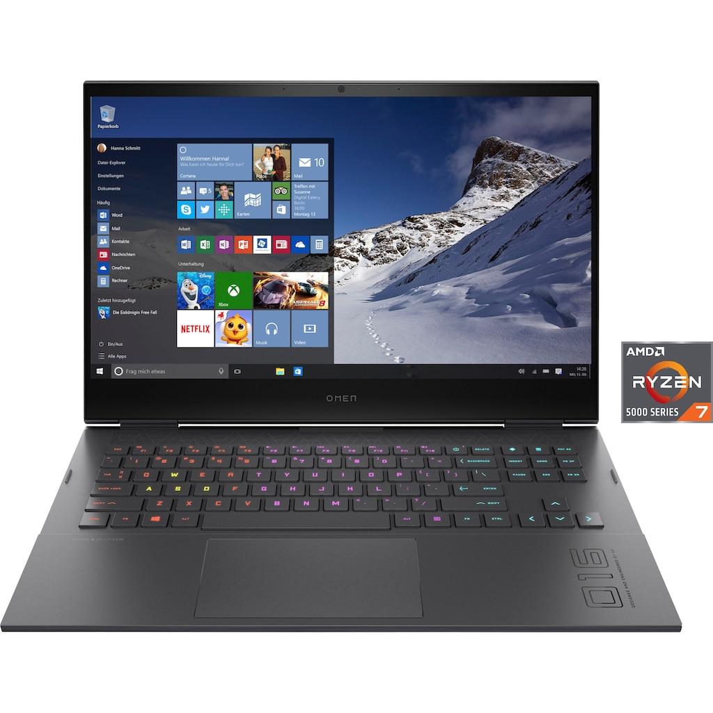 """OMEN Gaming-Notebook »16-c0278ng«, (40,9 cm/16,1 """" AMD Ryzen 7 RTX,™ 3070\r\n 1000 GB SSD), Kostenloses Upgrade auf Windows 11, sobald verfügbar"""