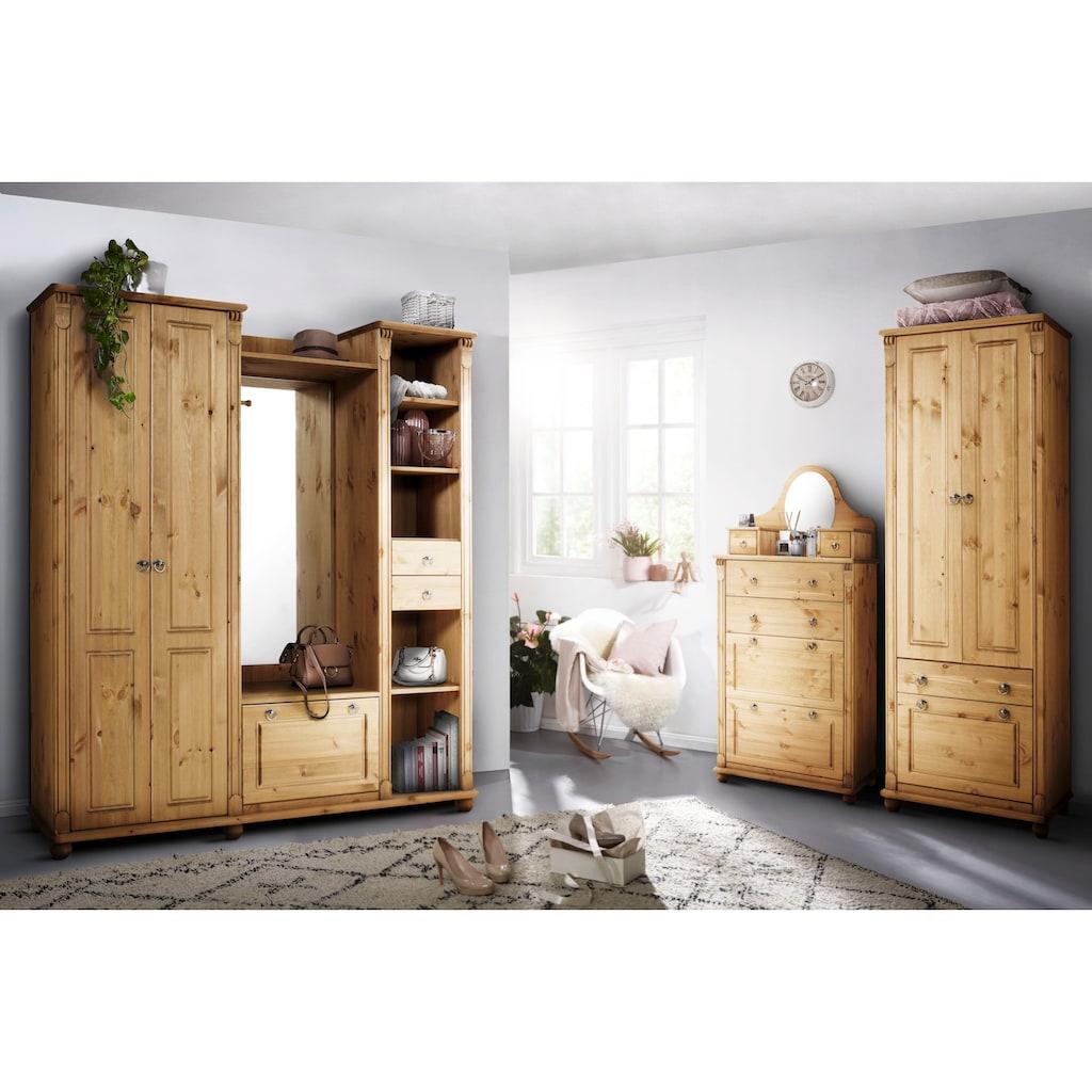 Home affaire Garderobenschrank »Tessin«, aus massiver Kiefer