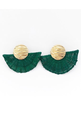 J.Jayz Paar Ohrclips »mit Struktur, teilweise geflochten, vergoldet« kaufen